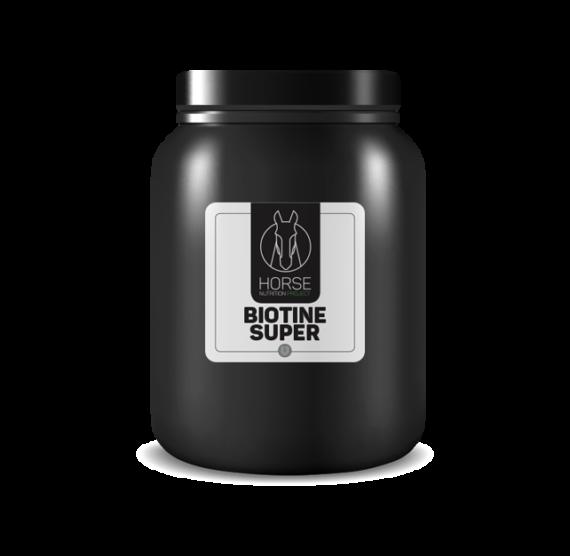 Biotine super est un complément alimentaire pour chevaux de la marque HNP-Horse Nutrition Project