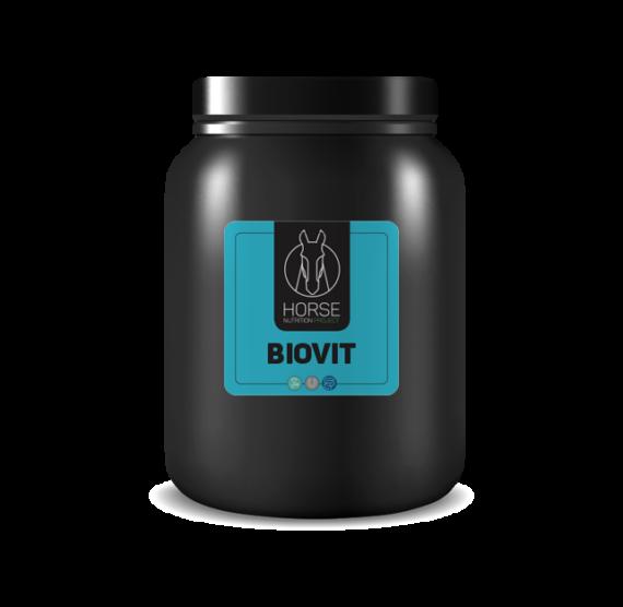 Biovit est un complément alimentaire pour chevaux de la marque HNP-Horse Nutrition Project