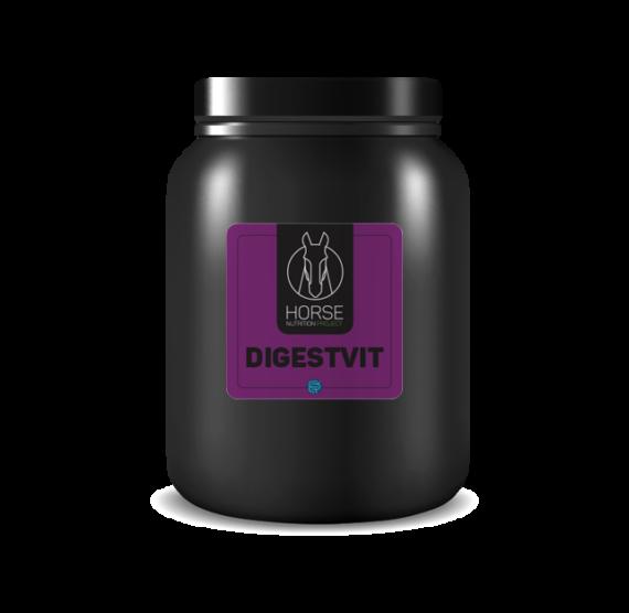 Digestvit est un complément alimentaire pour chevaux de la marque HNP-Horse Nutrition Project
