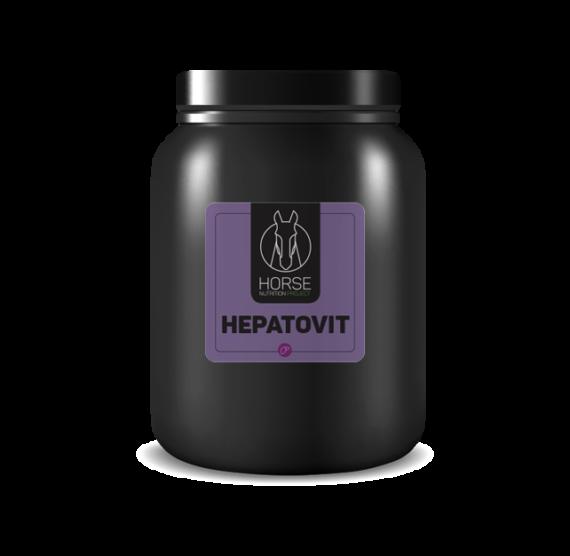 Hepatovit est un complément alimentaire pour chevaux de la marque HNP-Horse Nutrition Project