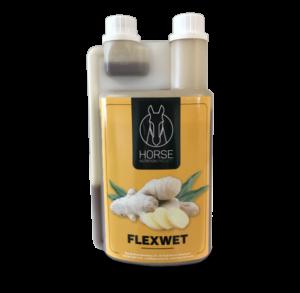 Flexwet est un complément alimentaire pour chevaux de la marque HNP-Horse Nutrition Project