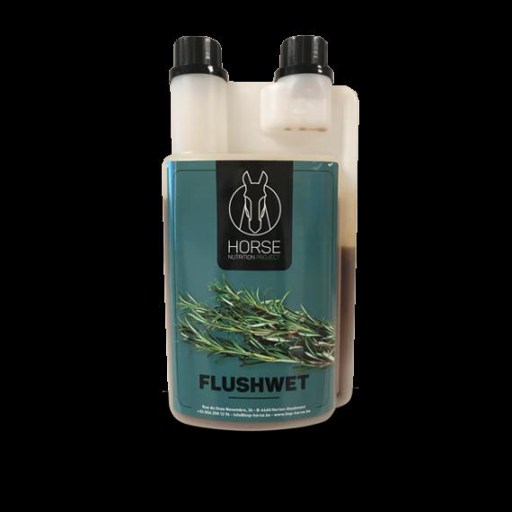 Flushwet complément alimentaire pour chevaux de la marque HNP-Horse Nutrition Project